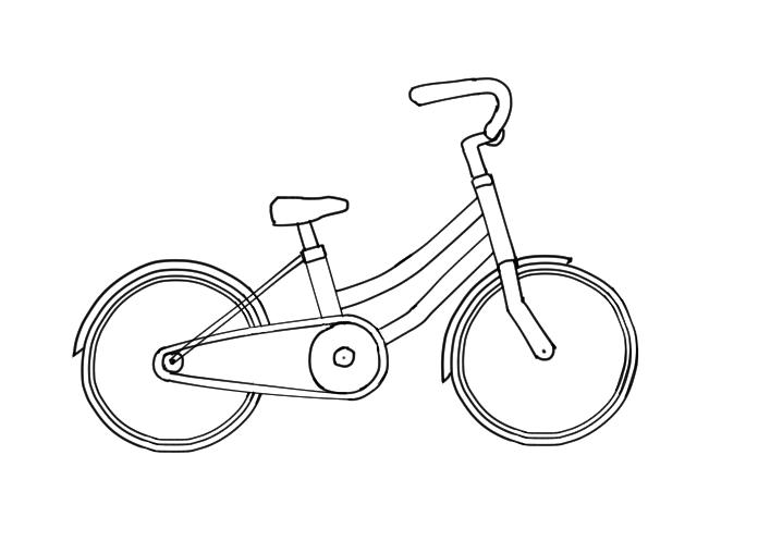 自転車の描き方 かきのタネ